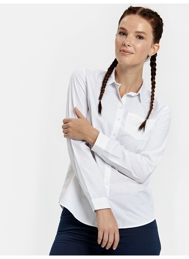 LC Waikiki Düz Uzun Kollu Gömlek Beyaz